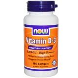 NOW Vitamin D-3 1000 IU 180 дражета