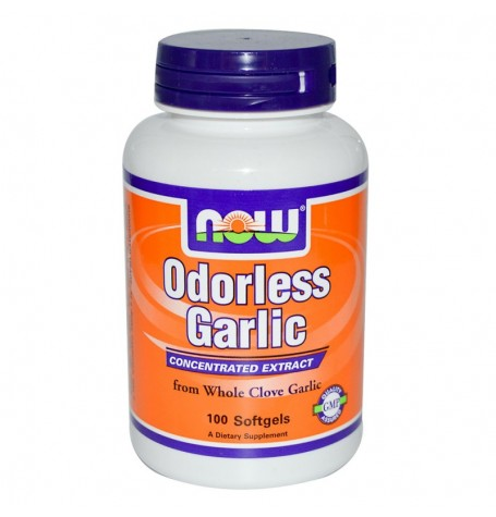 NOW Garlic Odorless Original 100 дражета