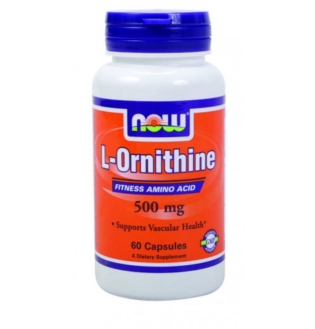 NOW Ornithine 500 mg 60 капсули