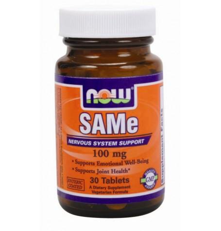 NOW SAMe 100 mg 30 таблетки