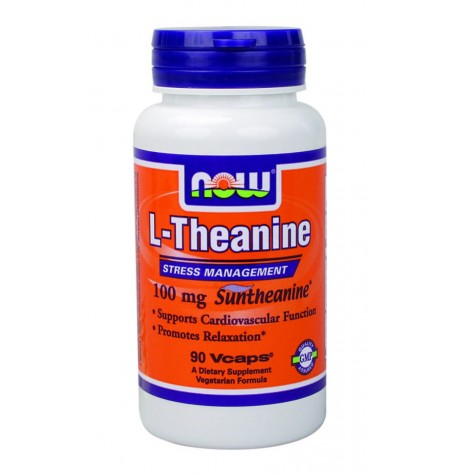 NOW Theanine 100 mg  90 капсули