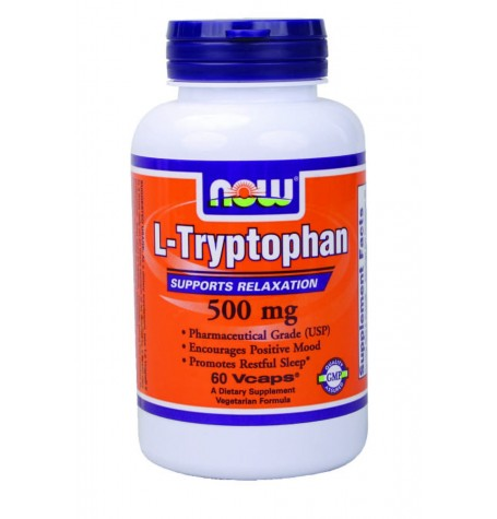 NOW L-Tryptophan 500 mg 60 капсули