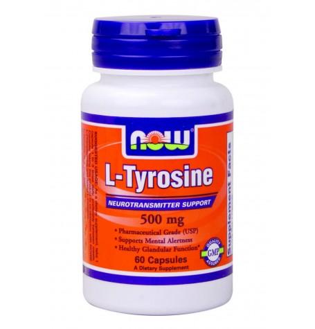 NOW Tyrosine 500 mg 60 капсули